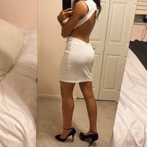 NWT Embellished backless dresss